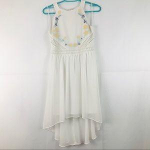 Girl White Dress Hi Low 16 white